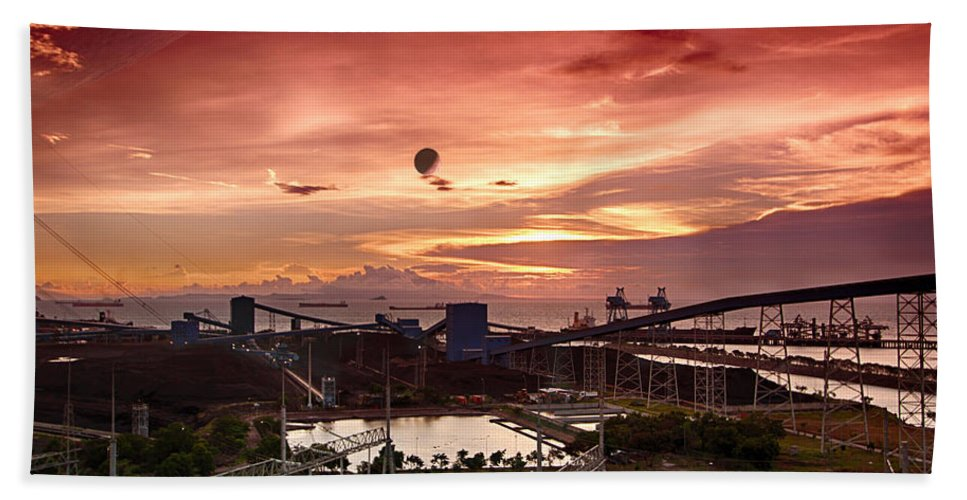 Activity Beach Towel featuring the photograph Planetary Mining by Paul Fell