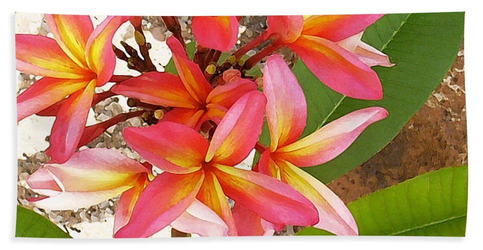 Hawaii Iphone Cases Beach Sheet featuring the photograph Plantation Plumeria by James Temple
