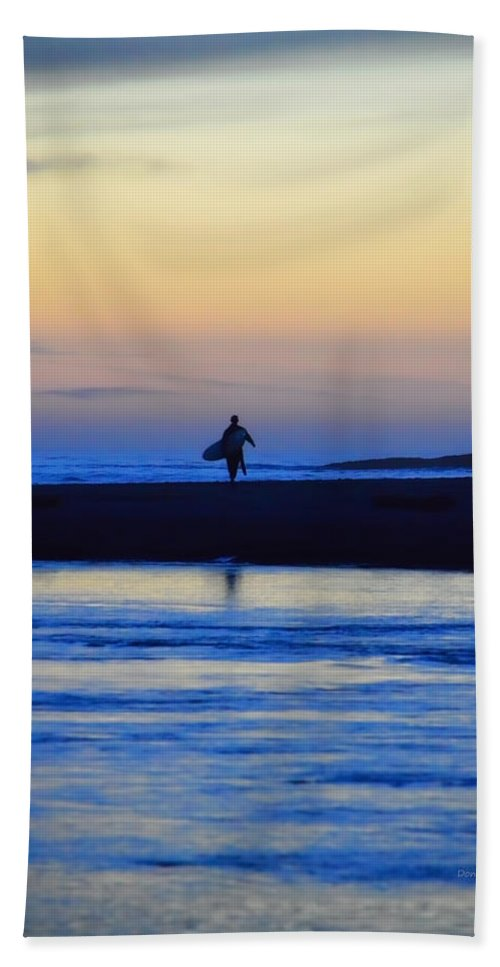 Surf Beach Towel featuring the photograph Played Out by Donna Blackhall