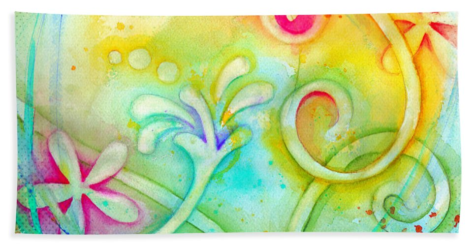 Color Beach Towel featuring the painting Playful Fancy by Carla Parris