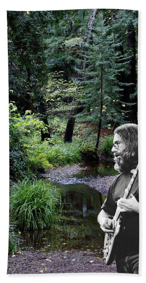 Grateful Dead Beach Towel featuring the photograph Playing For The Creek 3 by Ben Upham