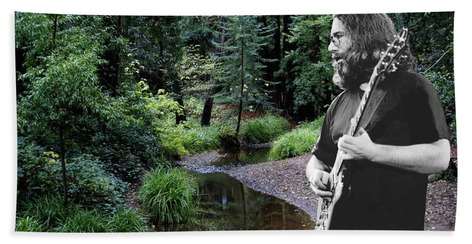 Grateful Dead Beach Towel featuring the photograph Playing For The Creek by Ben Upham
