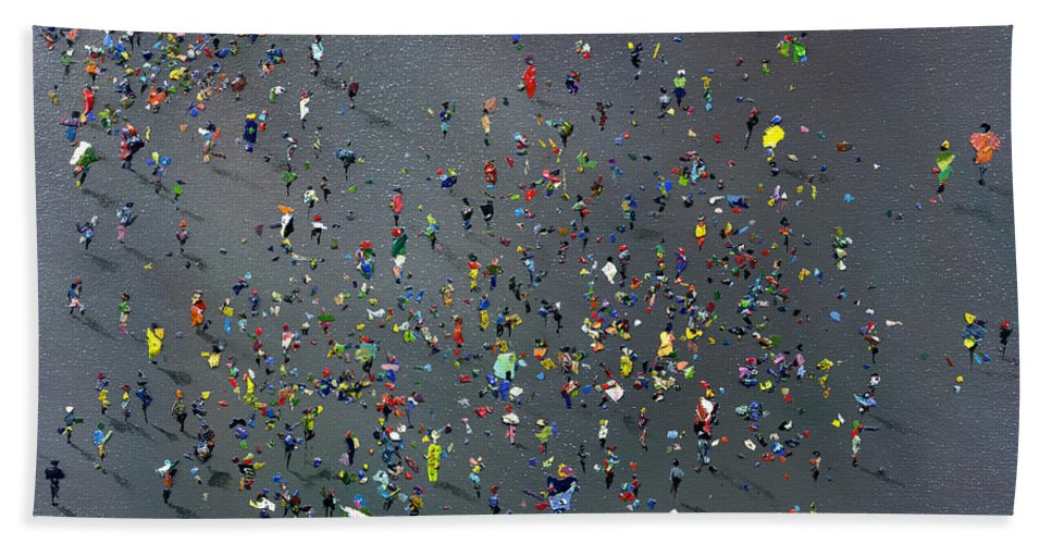 Paint Beach Towel featuring the painting Playtime by Neil McBride