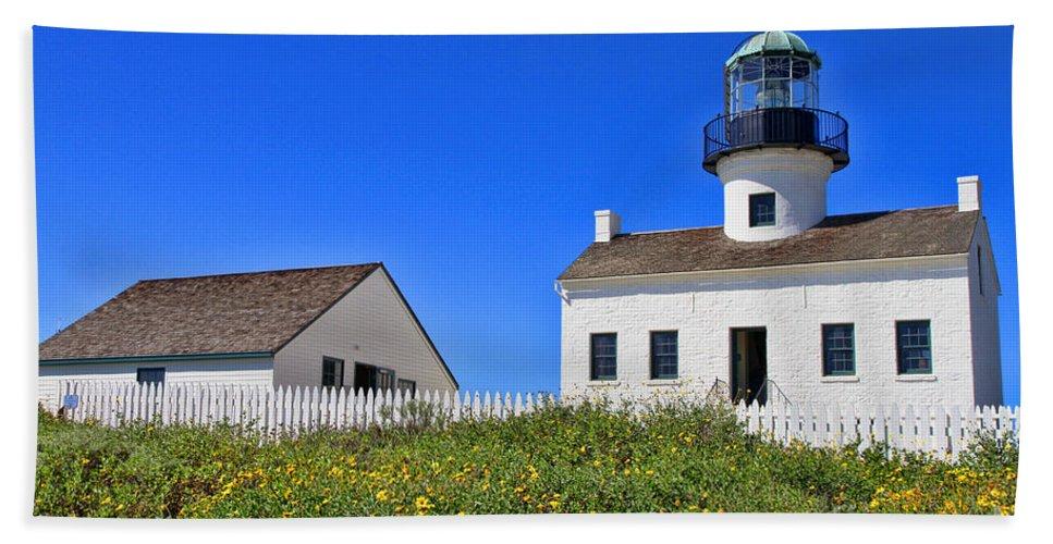 Point Loma Beach Towel featuring the photograph Point Loma Lighthouse By Diana Sainz by Diana Raquel Sainz