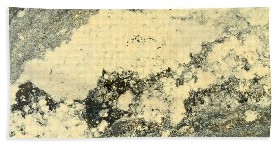 Abstract Beach Towel featuring the photograph Pollen Of Black Spruce Trees On Water Surface by Stephan Pietzko