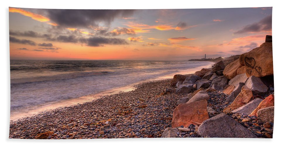 Beach Beach Towel featuring the photograph Ponto Twilight by Peter Tellone