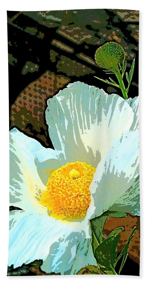 Flower Beach Towel featuring the photograph Poppy 5 by Pamela Cooper