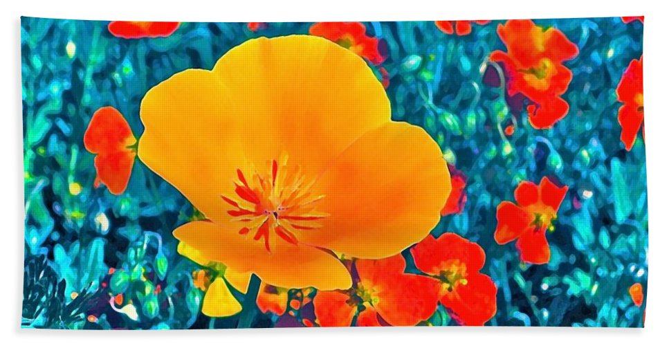 Flowers Beach Towel featuring the photograph Poppy 7 by Pamela Cooper
