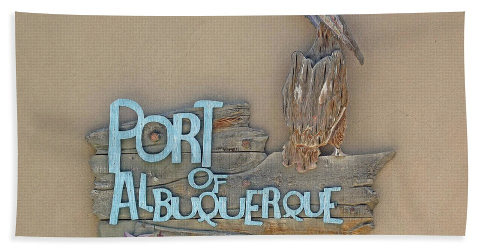 Port Beach Towel featuring the photograph Port Of Albuquerque by Jennifer Lavigne