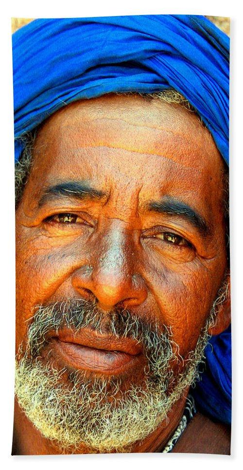 Berber Man Beach Sheet featuring the photograph Portrait Of A Berber Man by Ralph A Ledergerber-Photography