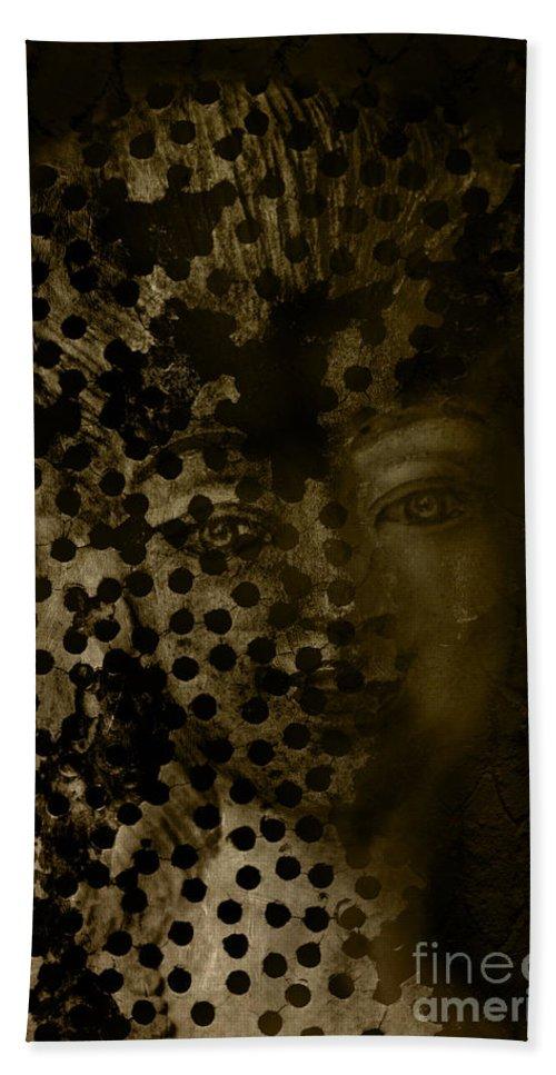 Woman Beach Towel featuring the digital art Portrait Of A Leopardess by Nola Lee Kelsey