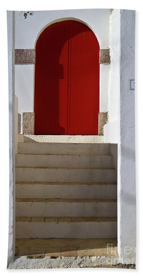 Architecture Beach Towel featuring the photograph Portuguese Entrance by Heiko Koehrer-Wagner