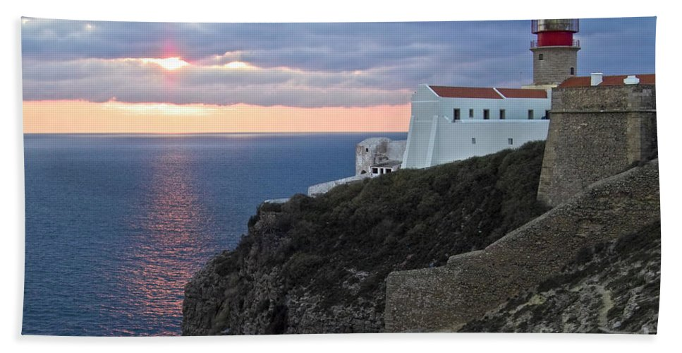 Europe Beach Towel featuring the photograph Portuguese Lands End by Heiko Koehrer-Wagner