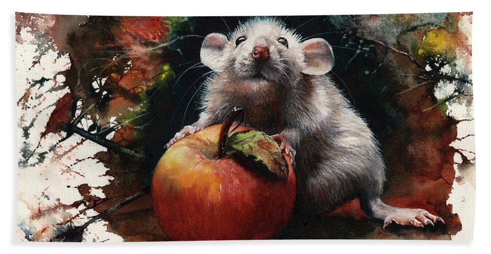 Rat Beach Towel featuring the painting Possession Nine Tenths Of The Law by Peter Williams