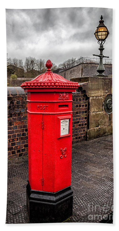 British Beach Towel featuring the photograph Post Box by Adrian Evans