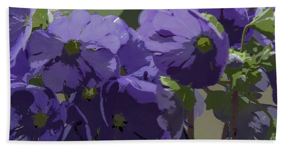 Abstract Flowers Beach Towel featuring the photograph Posterised Flowers by Brian Roscorla