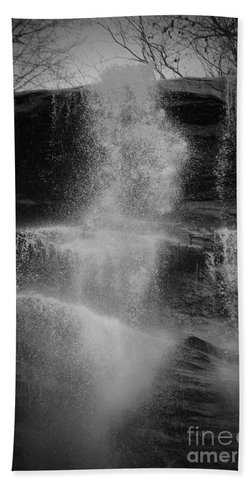 Amicalola Beach Towel featuring the photograph Power Of Water by Jost Houk