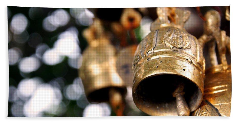 Prayer Beach Towel featuring the photograph Prayer Bells by Kaleidoscopik Photography