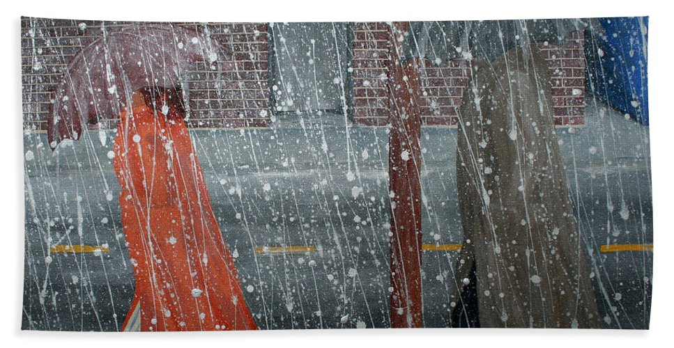 Art Beach Towel featuring the painting Precipitous Afternoon by Ric Bascobert