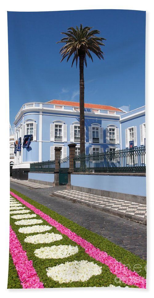Building Beach Towel featuring the photograph Presidential Palace - Azores by Gaspar Avila
