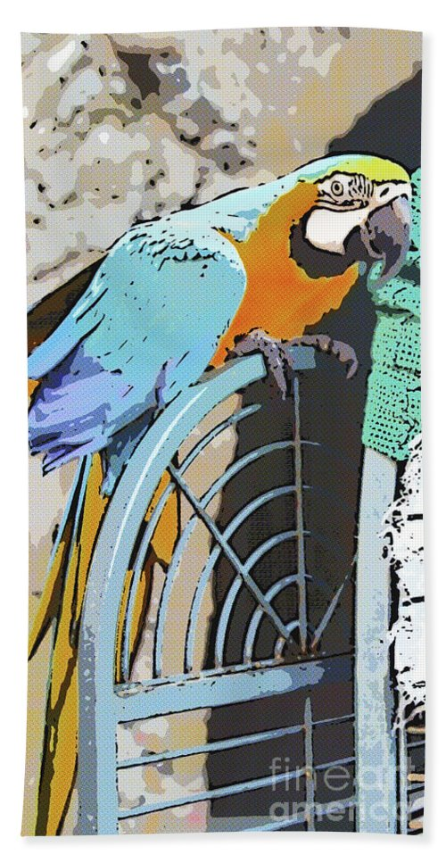 Digital Painting Beach Towel featuring the digital art Pretty Polly by Diane Macdonald