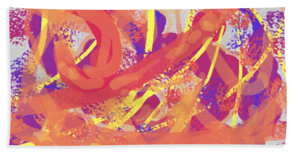 Red Beach Towel featuring the digital art Primary Colours by William Braddock