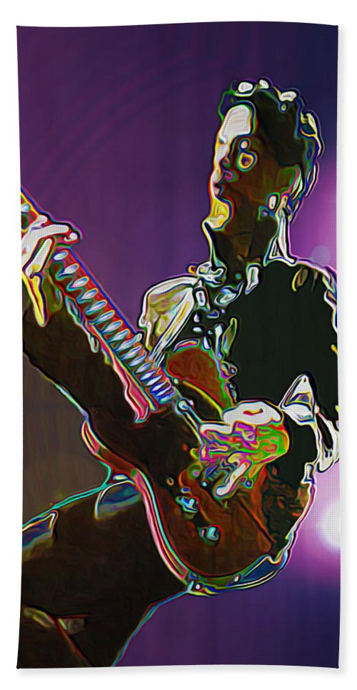Prince Beach Towel featuring the painting Prince by Fli Art