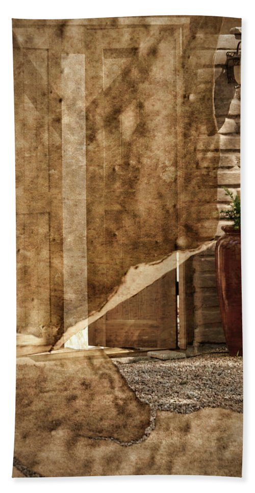 Door Beach Towel featuring the photograph Private Entrance by Nikolyn McDonald