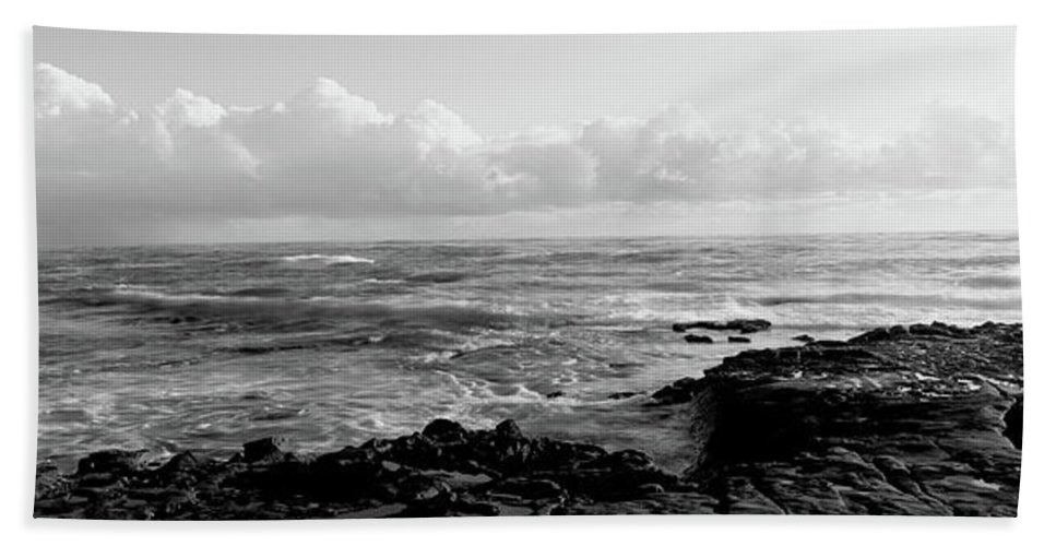 Photography Beach Towel featuring the photograph Promontory La Jolla Ca by Panoramic Images