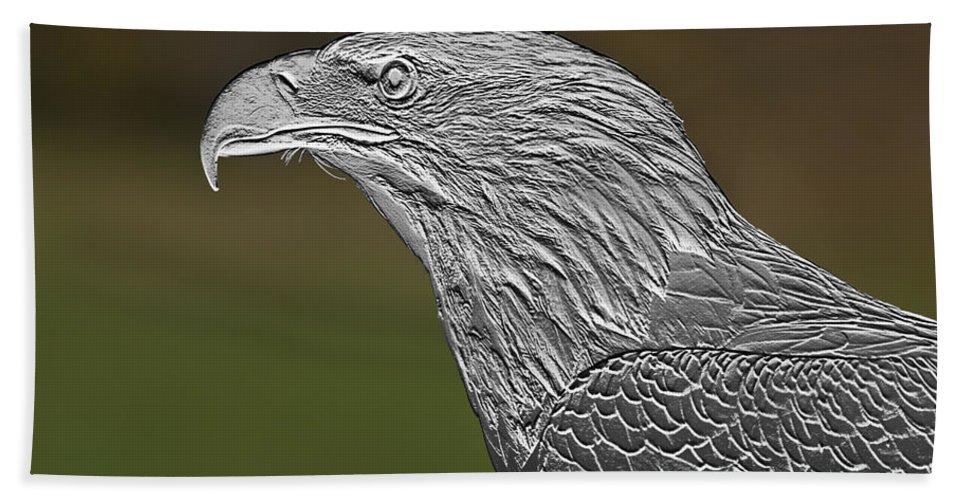 Bowing Beach Towel featuring the photograph Proud Bald Eagle by Paul Cannon