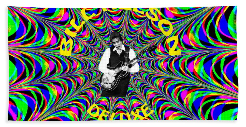 Bill Nelson Beach Towel featuring the photograph Psychedelic Bill Nelson Deluxe by Ben Upham