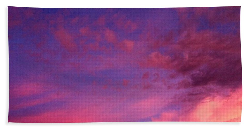 Purple Beach Towel featuring the photograph Purple Clouds Majesty by Melissa Darnell Glowacki