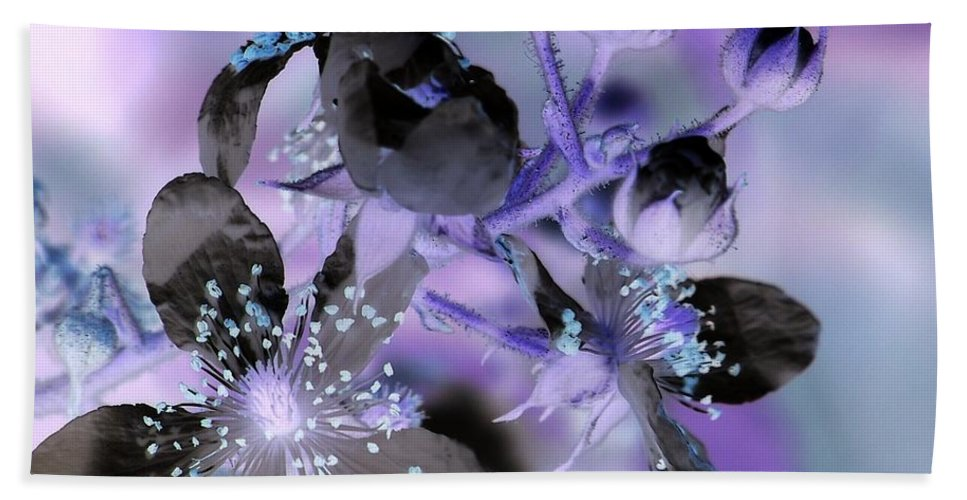 Purple Beach Towel featuring the photograph Purple Flower Abstract 2 by Eunice Miller