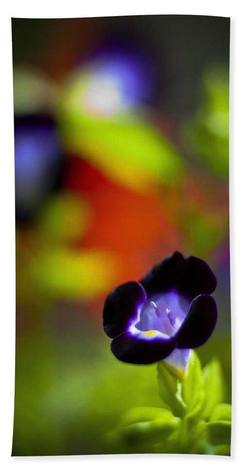 Flowers Beach Towel featuring the photograph Purple Flower by Bradley R Youngberg