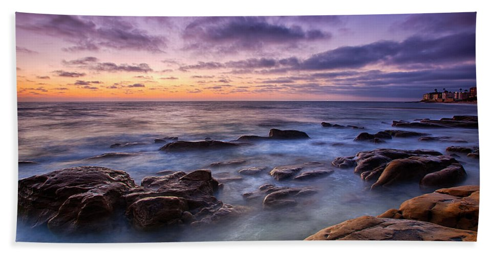 California Beach Towel featuring the photograph Purple Majesty No Mountain by Peter Tellone