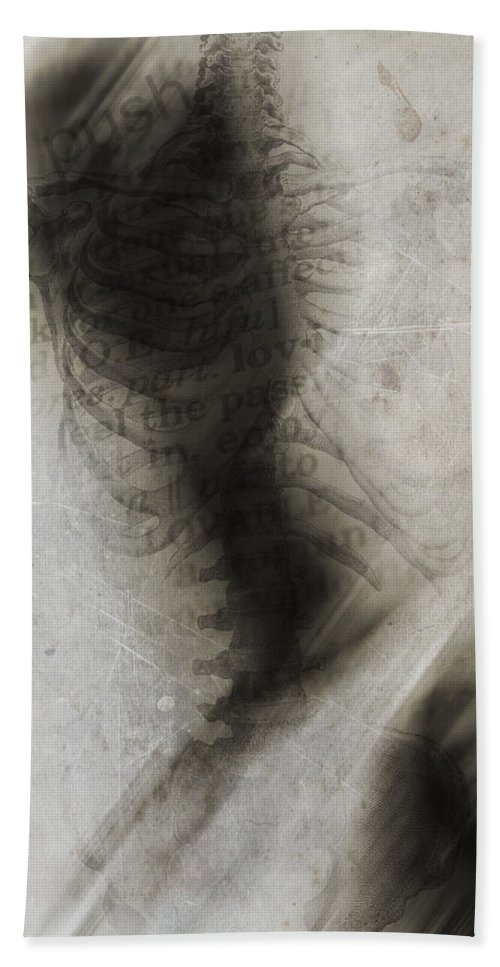 Abstract Beach Towel featuring the photograph Push The Feelings Down by The Artist Project