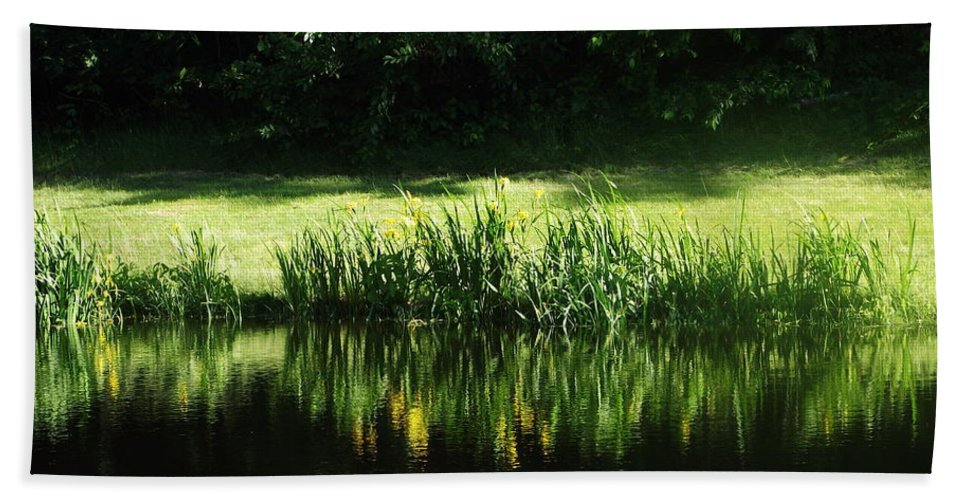 Still Pond Beach Towel featuring the photograph Quiet Reflection by Michelle Welles