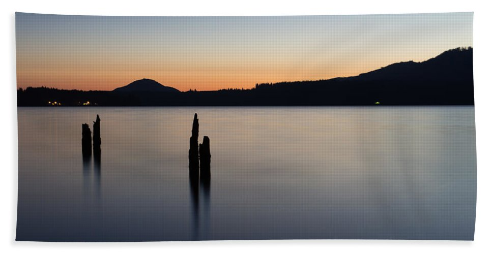 Lake Beach Towel featuring the photograph Quinault Calm by Heidi Smith