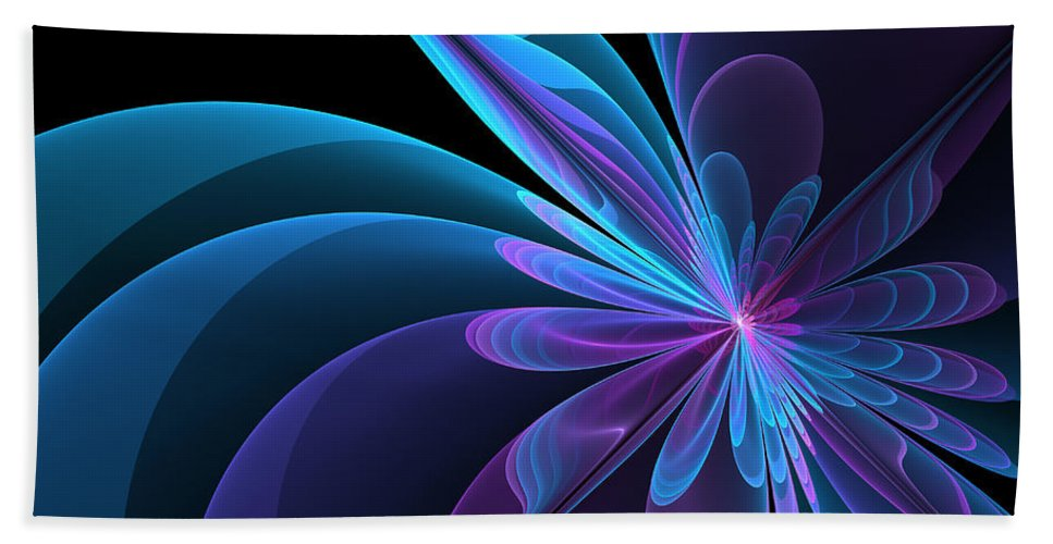 Digital Art Beach Towel featuring the digital art Radiant Beauty by Gabiw Art