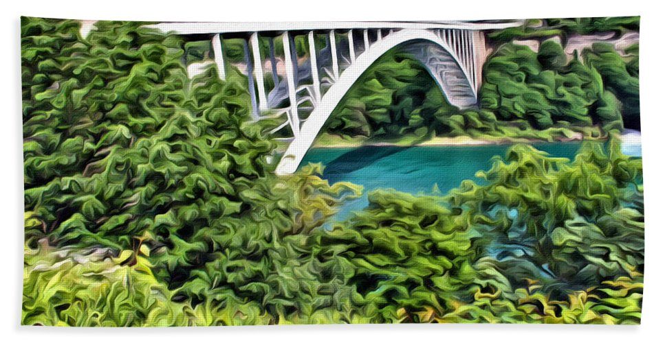 Rainbow Bridge Beach Towel featuring the photograph Rainbow Bridge View by Alice Gipson
