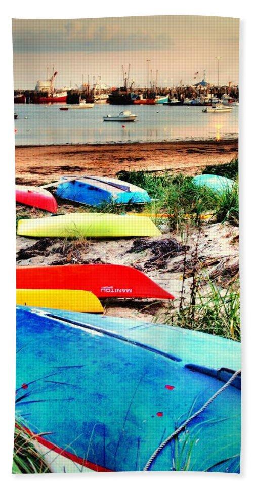 Landscape Beach Towel featuring the photograph Rainbow Fleet by Robert McCubbin