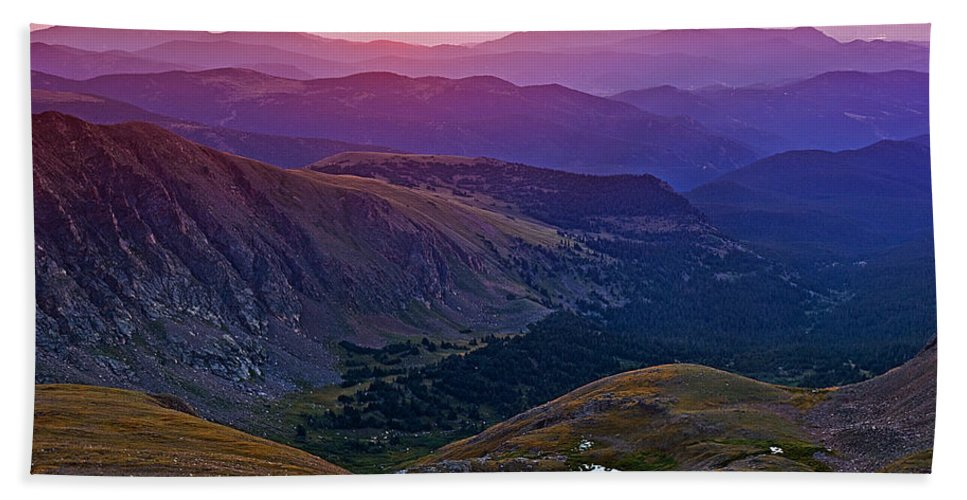 Daybreak Beach Towel featuring the photograph Rainbow Sunrise by Brian Kerls