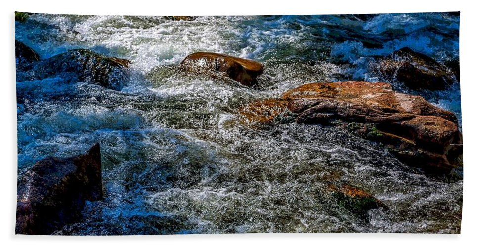 Rapids Beach Towel featuring the photograph Rapids On The Gore by Jon Burch Photography