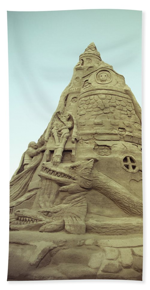 Sandcastle Beach Towel featuring the photograph Rapunzel's Sandcastle by Colleen Kammerer