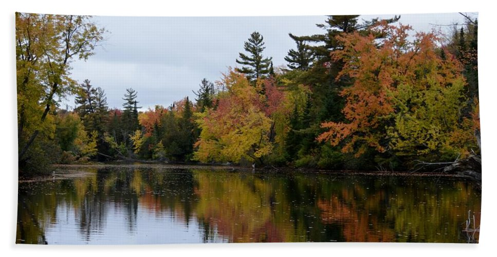 Canoe Route Beach Towel featuring the photograph Raquette River Reflections by Thomas Phillips