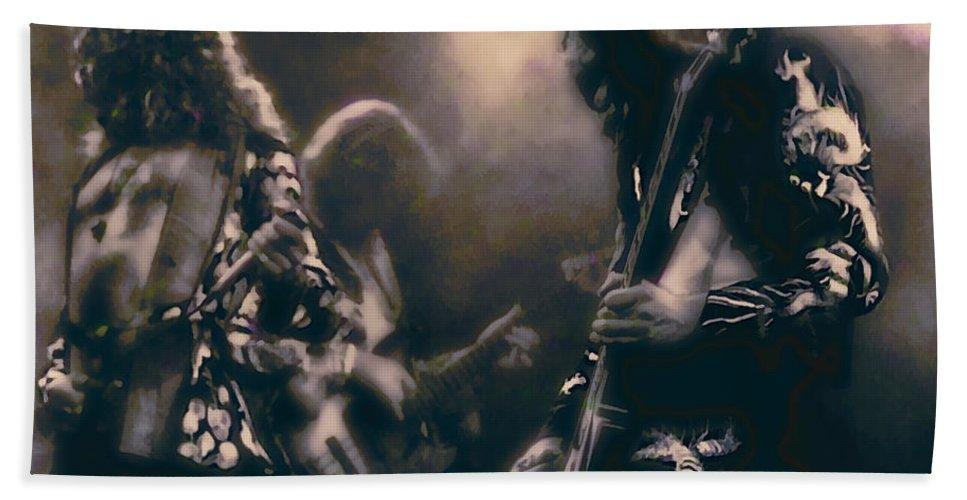 led Zeppelin Beach Towel featuring the photograph RAW ENERGY of LED ZEPPELIN by Daniel Hagerman