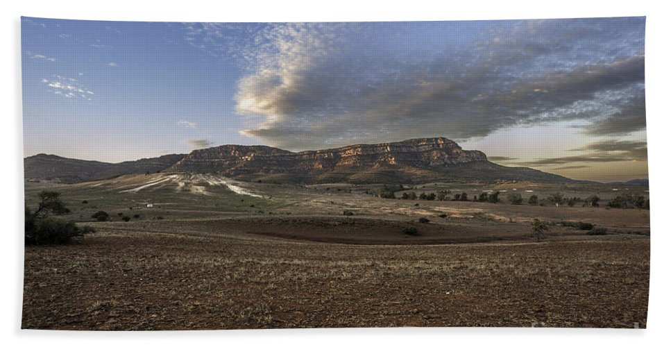 Outback Beach Towel featuring the photograph Rawnsley Bluff by Ray Warren