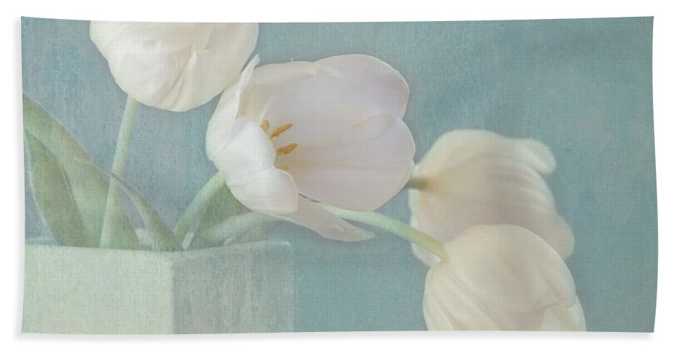 White Flower Beach Towel featuring the photograph Ray Of Beauty by Kim Hojnacki