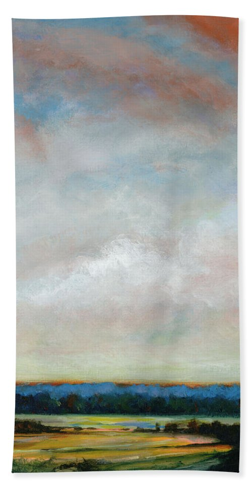Afternoon Beach Towel featuring the painting Reaching For William Mc Carthy by Dennis Kirby