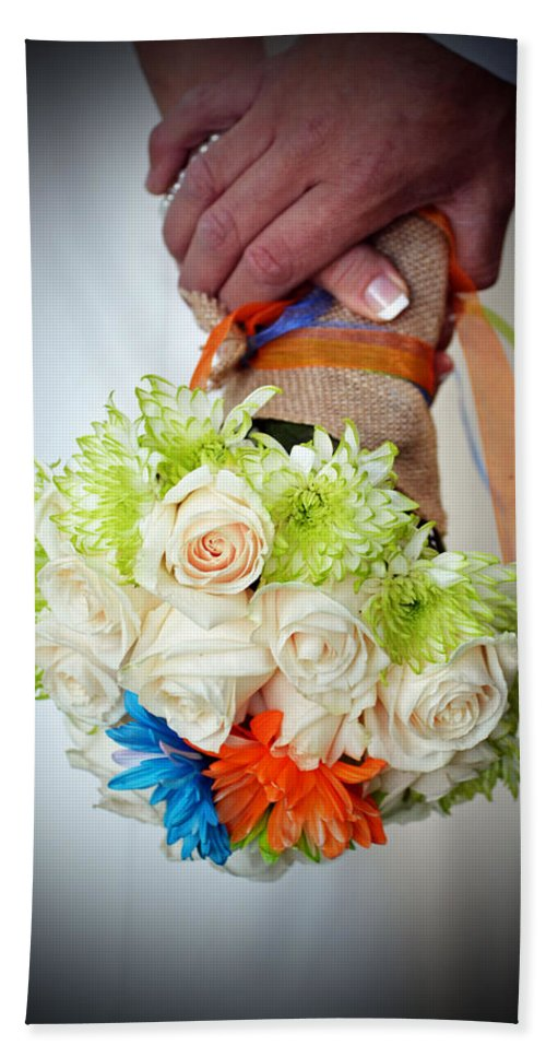 Flowers Beach Towel featuring the photograph Ready To Wed by Holly Blunkall
